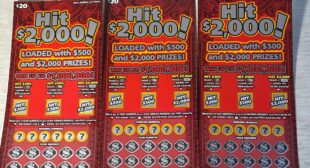 NEW JERSEY LOTTERY  HIT 2000 tickets 3in a row